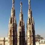 Standing tall duomo rooftop Milano milan cathedral italia italy gothichellip