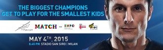 The Zanetti and Friends Match for Expo Milano 2015 Takes Place on May 4 at San Siro