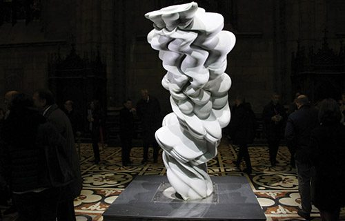 Tony Cragg on the Terraces of the Duomo