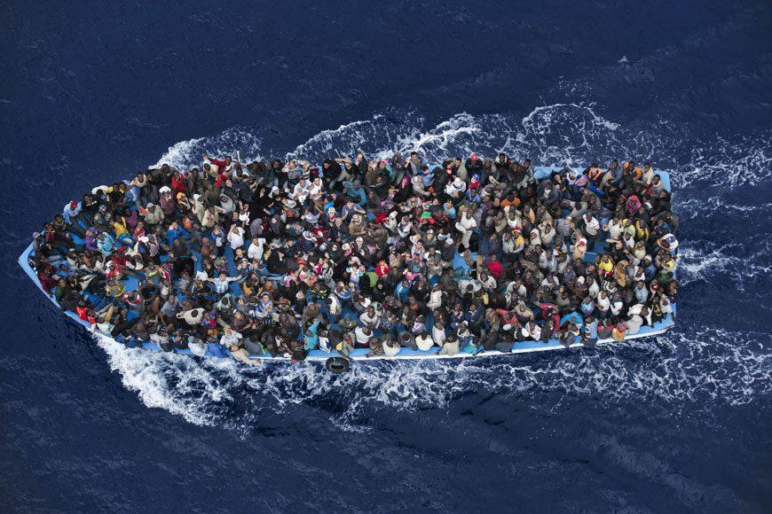 Secondo premio Notizie generali, Foto singole Massimo Sestini, Italia 7 giugno, lungo la costa libanese
