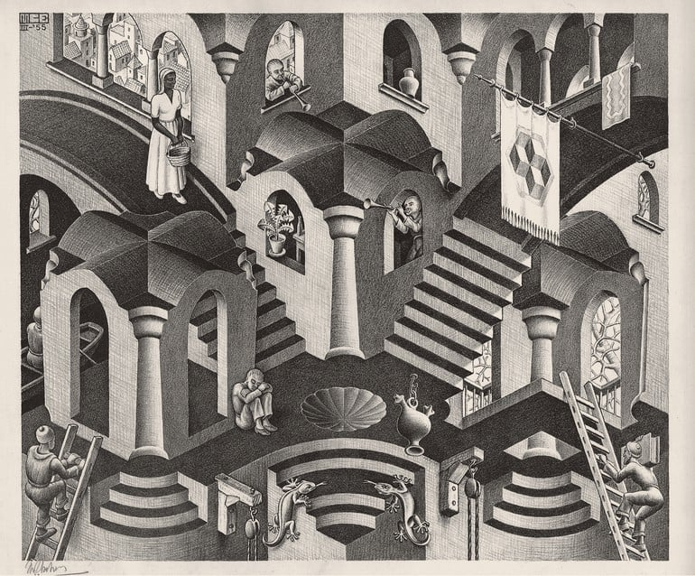 Escher Exhibition at Palazzo Reale in MIlan